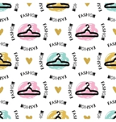 Trendy fashion seamless pattern sketch clothes vector