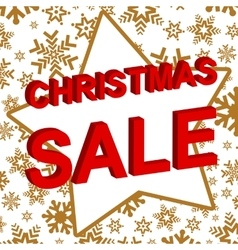 Winter sale poster with christmas sale text vector