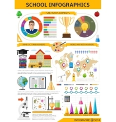 School Infographics Template vector image