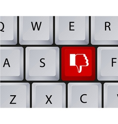 Keyboard dislike button vector