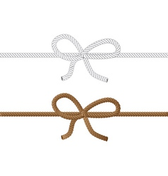 Rope bow2 vector image