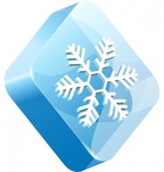 vector ice button vector image