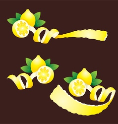 Peel lemon ribbon like vector