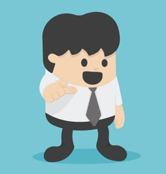 Cartoon businessman pointing to the front vector image