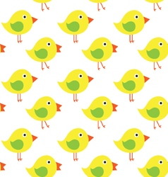 Yellow chicken on white background seamless vector