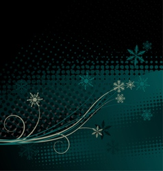 Winter background christmas decoration vector