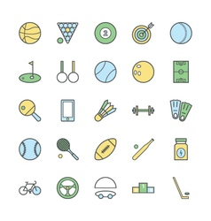 Sports bold icons 1 vector