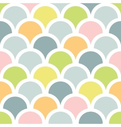 Abstract colorful fishscale seamless pattern vector image