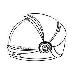 astronaut sketch spacesuit vector image