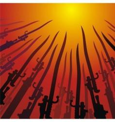 Bayonets vector