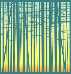 birch grove background against the sky vector image vector image