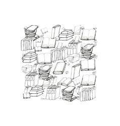 Book doodle vector