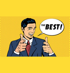 business man telling the best vector image vector image