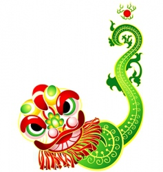chinese lion dance card vector image vector image