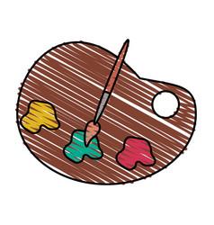 Color crayon stripe cartoon watercolor palette art vector