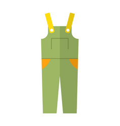 Coverall protective clothing flat color icon vector
