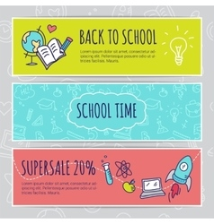 Education concept with hand drawn elements vector