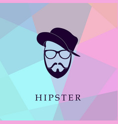 Fashion head silhouette hipster style vector