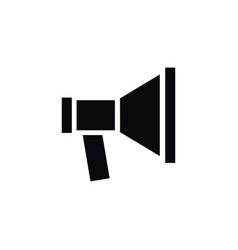 Isolated megaphone icon amplification vector