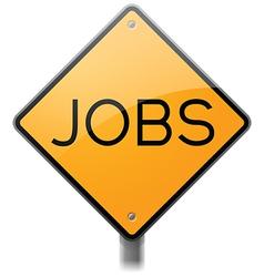Jobs sign vector