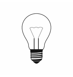 Light bulb icon simple style vector