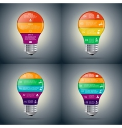 lightbulb set for infographic vector image