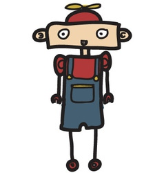 little kid robot vector image