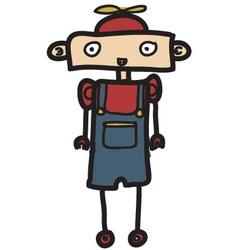 little kid robot vector image vector image