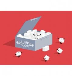 Lump sugar vector