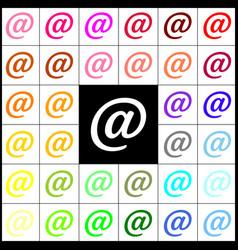 Mail sign felt-pen 33 vector