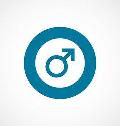 Male sign bold blue border circle icon vector