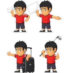 Soccer boy customizable mascot 16 vector