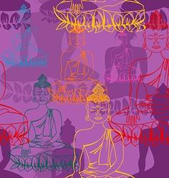 Statue of buddha seamless pattern vector