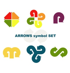 symbols with arrows vector image vector image