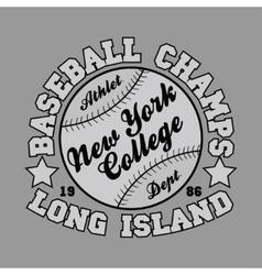 T-shirt baseball design fashion vector image