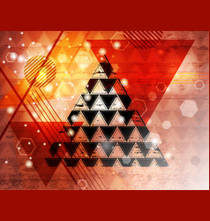triangle 15 vector image vector image