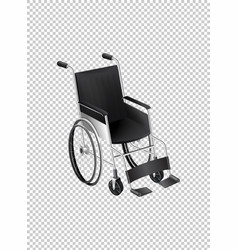Wheelchair on transparent background vector