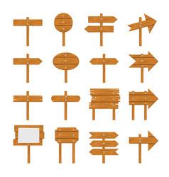 wooden signboards wood arrow vector image