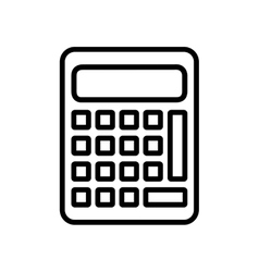 Calculator math count school icon graphic vector