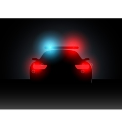 Police car in the dark with the included vector image