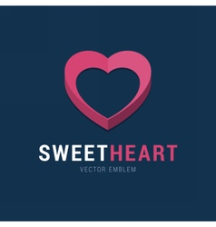 Sweet Heart emblem with 3d effect vector image