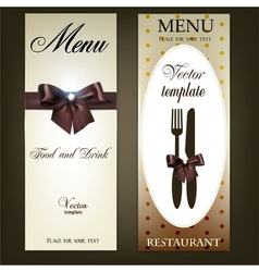 Menu design for restaurant or cafe vintage vector