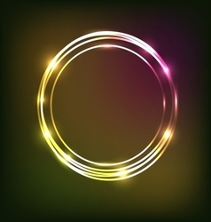 Abstract colorful neon background with circles vector