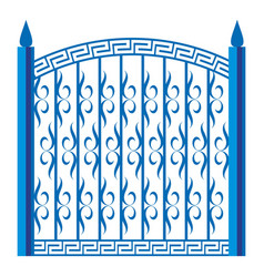 Forged gate icon cartoon style vector