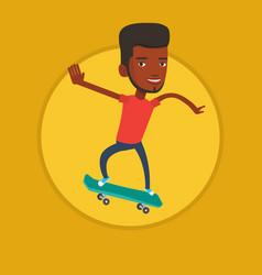 man riding skateboard vector image
