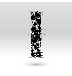 Letter i formed by inkblots vector
