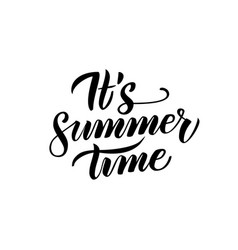 Summer time handwritten lettering vector