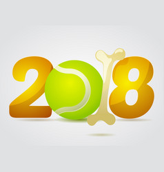 2018 year of the dog vector