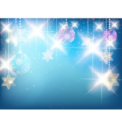 Christmas decoration background with stars vector