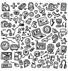 Web doodles vector